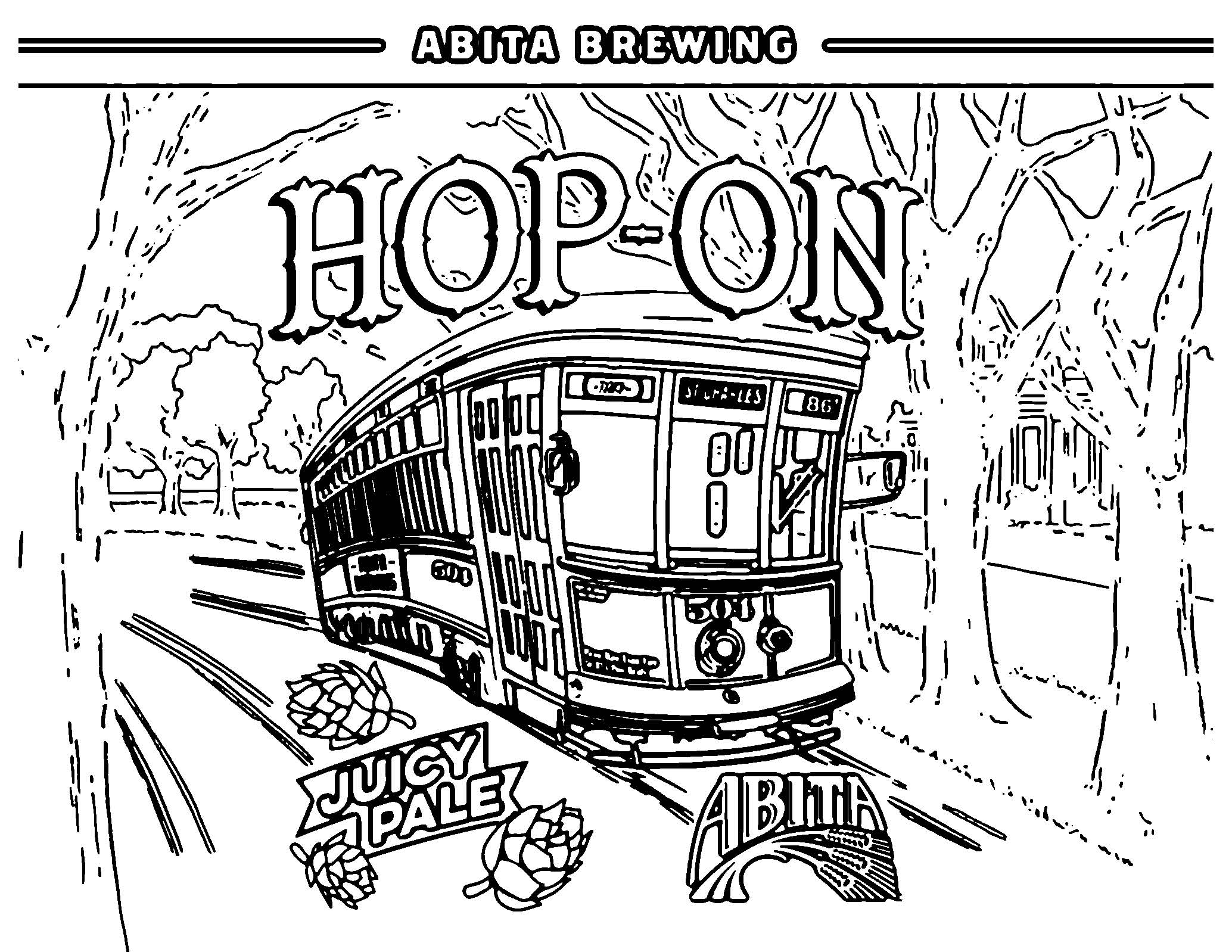 - Adult Coloring Sheets - - Abita Beer